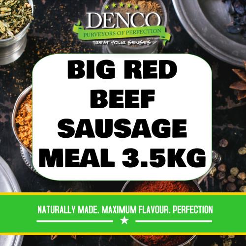 Denco Big Red Beef Ri Sausage Meal, Premix, Seasoning 3.5kg Bag