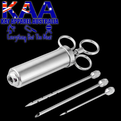 BBQ Brine Marinade Meat Injector Stainless Steel 60ml