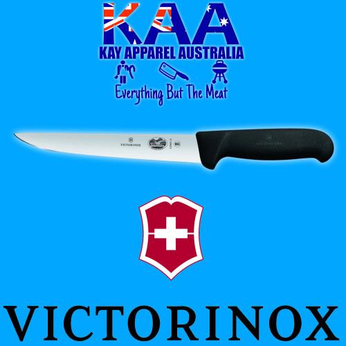 "Victorinox Butchers Sticking Boning Knife Wide Straight 7"" Black 5.5503.18"