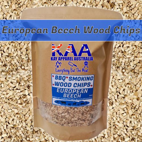 BBQ SMOKING WOOD - CHIPS EUROPEAN BEECH WOOD 1KG