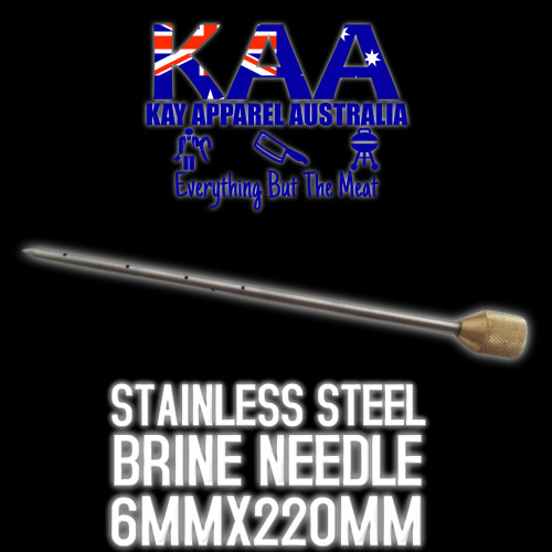 Brine Pump Needle injector 6mm x 220mm, Stainless Steel