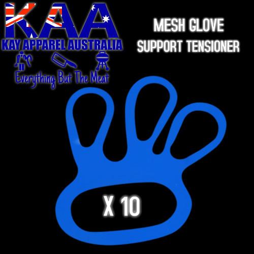 Mesh Glove Finger Support Tensioner (BLUE) 10 Pack