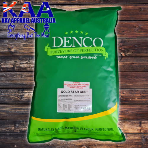 Denco Gold Star Meat Cure 6.25KG Ham & Bacon Meat Pumping Cure, Meat Cure Brine