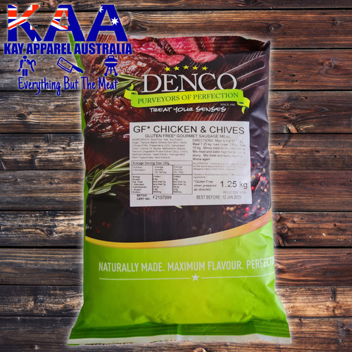 Denco Chicken & Chives Gourmet Sausage Meal, Premix, Seasoning 1.25kg Bag