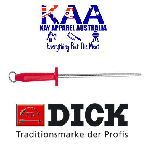 """F.Dick Steel for Butchers, Round Polished Stainless 10"""" 7 4691 25R"""