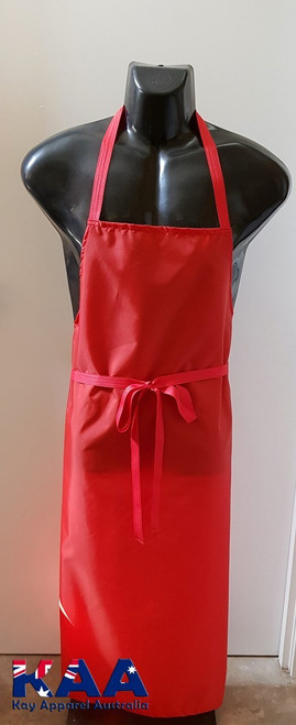 Bulk Discount Red Water Resistant Nylon Cleaning Apron