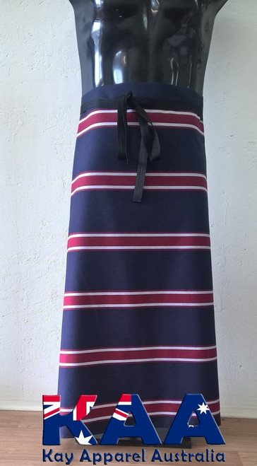 Bulk Discount Navy Red Butchers Waist Aprons