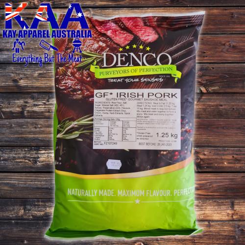 Denco IRISH PORK Gourmet Sausage Meal, Premix, Seasoning 1.25kg Bag
