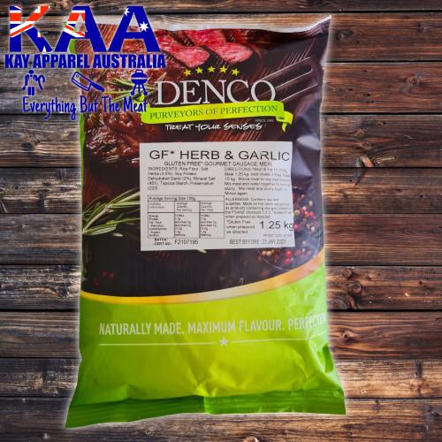 Denco Herb & Garlic Gourmet Sausage Meal, Premix, Seasoning 1.25kg Bag