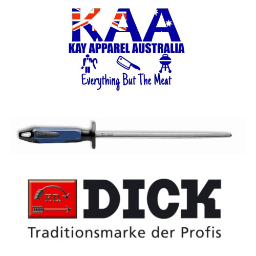 "F.Dick Dick Combi 2 Sides Fine Cut, 2 Sides Polished Steel 10"" NEW 2K HANDLE 7 3882 25"