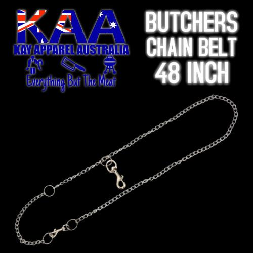 Butchers Stainless Steel Chain Belt, Knife Pouch Belt