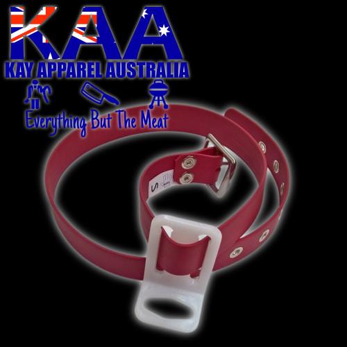 Butchers Knife Pouch Belt Red, Sizes S,M,L,XL