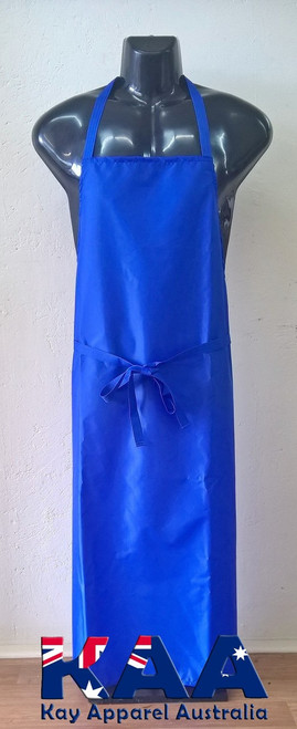 Blue Water Resistant Nylon Cleaning Apron