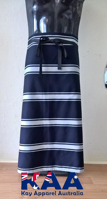 Navy White Butchers Waist Apron
