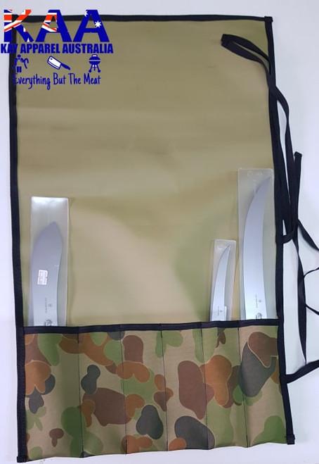 AUS CAM Rhino Canvas Knife Roll 6 pocket