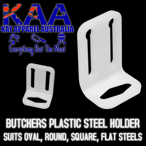 Butchers Sharpening Steel Holder, Suit F.Dick, Round Oval Flat Sharpening Steel