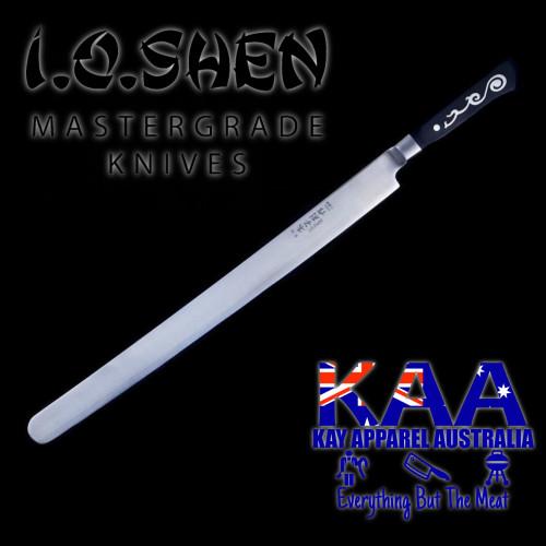 """I.O Shen Miho Flat Blade Brisket Slicer Knife - 360mm / 14"""""""
