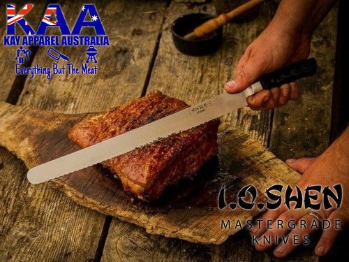 "I.O Shen Mizu Scalloped Blade Slicer Knife - 360mm / 14"""