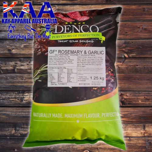 Denco Rosemary & Garlic Gourmet Sausage Meal, Premix, Seasoning 1.25kg Bag