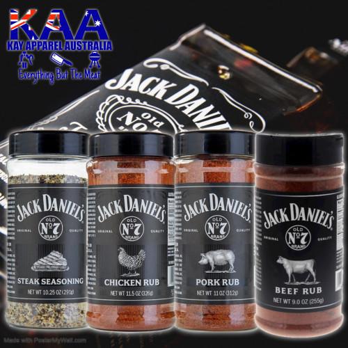 Jack Daniels BBQ Rubs Set of 4, Beef, Pork, Chicken, Steak BBQ Rub