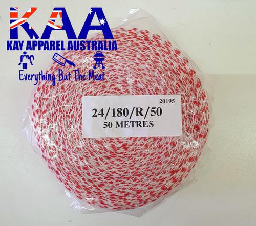 Elastic Meat Wrap Netting 50 Meters Roll 180mm Red