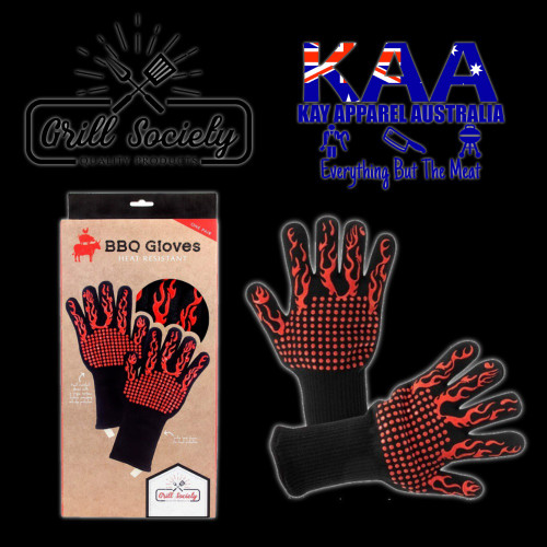 Grill Society Heat Resistant BBQ Smoker Gloves (Pair)