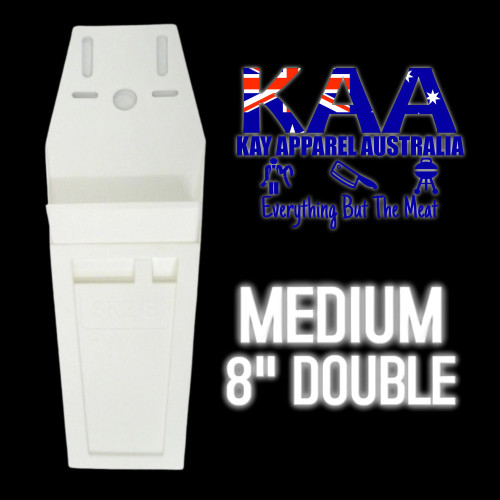 """Butchers Knife Pouch Scabbard 8"""" White"""