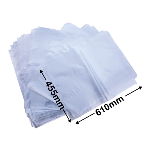 Heavy Duty LDPE Plain Freezer/Produce Bags 610 x 455 mm pack of 100