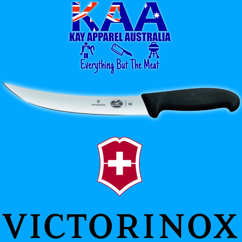 "Victorinox Butchers Steak Slicing Breaking Knife 8"" Black 5.7203.20"