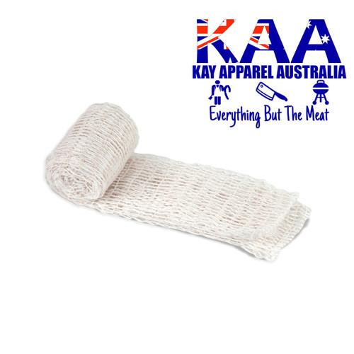 Elastic Meat Wrap Netting 2 Meters 125mm White