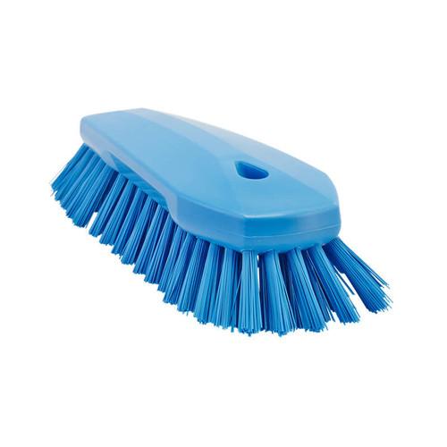 Vikan Hand Scrub Brush Blue, Medium Bristle, Large, 260 mm  28/38923