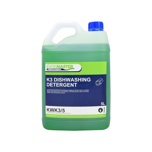 Kwikmaster Professional K3 DISHWASHING DETERGENT 5L, Cleaning Chemicals
