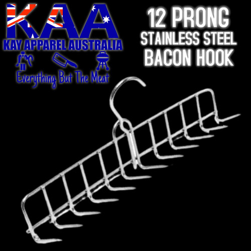 Bacon Or Rib Hook Hanger Stainless Steel 12 Prong