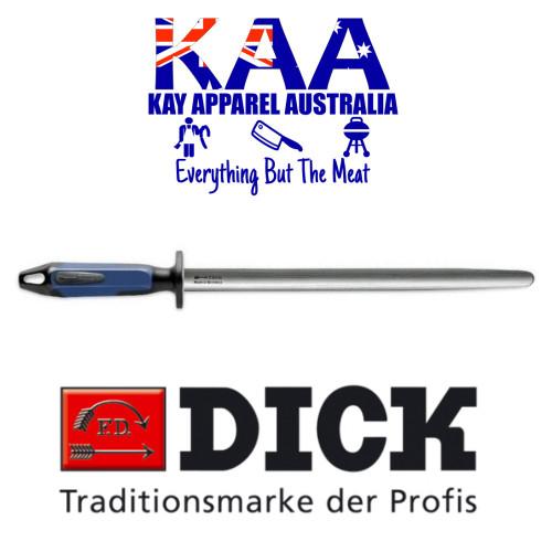 """F.Dick Oval Fine Cut Steel 10"""" 7 3883 25 0 66 NEW 2K Blue handle"""