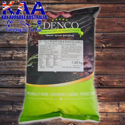Denco Field Mushroom & Roasted Garlic Gourmet Sausage Meal, Premix, Seasoning 1.25kg Gluten Free