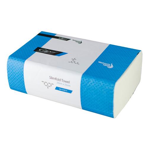 Capri Slimfold Hand Paper Towel 23cm x 23cm - 200 Sheets
