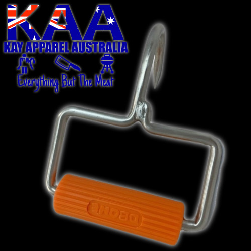 Stirrup Stainless Steel Boning Hook Round Handle Orange