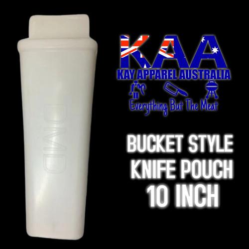 "DMD Butchers Oval knife Pouch Scabbard - Bucket Style 10"""