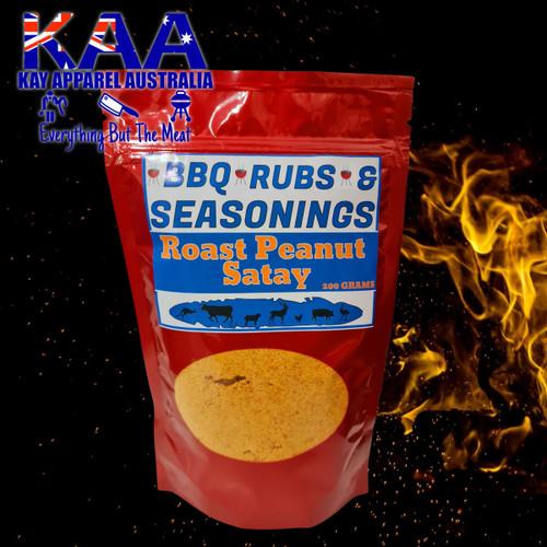 BBQ Rubs, Roast Peanut Satay BBQ Rub Sprinkle 200 grams