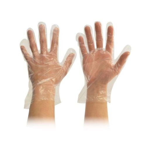 Food Handling Gloves LDPE Clear Large, Pack of 100