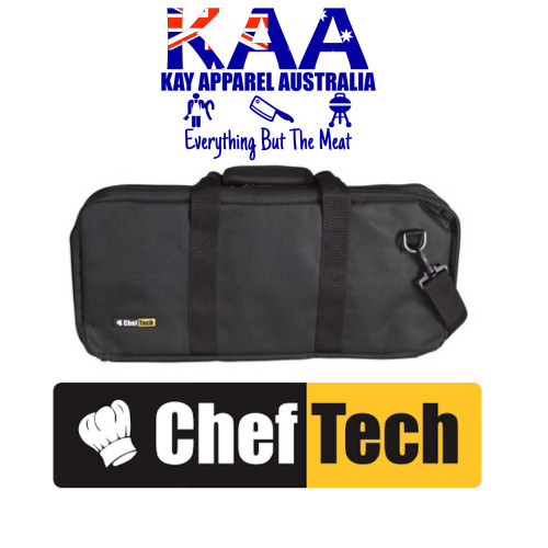 Cheftech 18 Pockets Knife Storage Bag Black, With Carry Strap