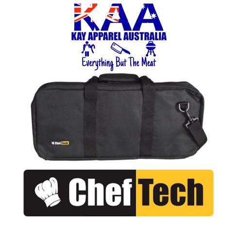 Cheftech 18 Pockets Knife Storage Bag Black, With Carry Strap