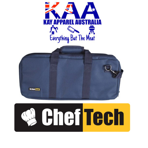 Cheftech 18 Pockets Knife Storage Bag Blue, With Carry Strap