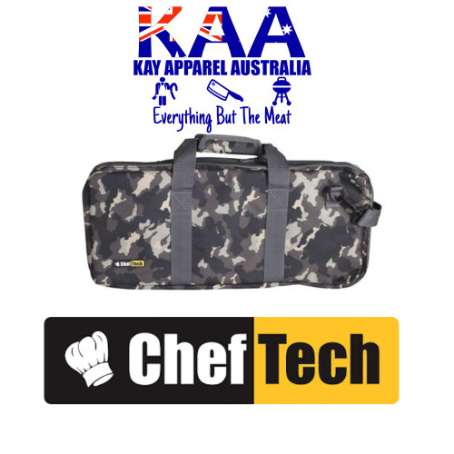 Cheftech 18 Pockets Knife Storage Bag Urban Camo, With Carry Strap
