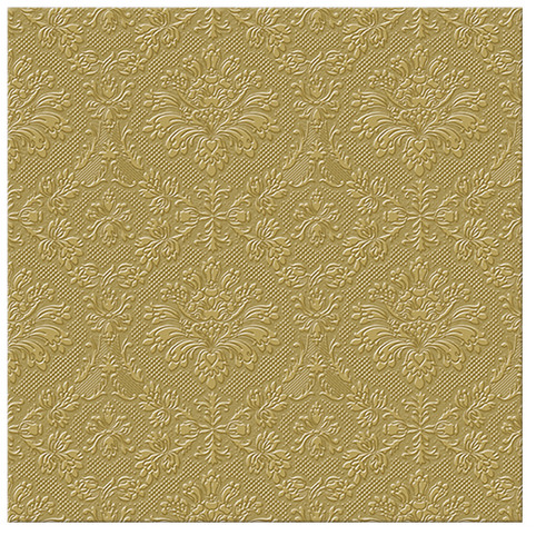 Paw Paper Lunch Napkin 33cm Pack of 20, 3 Ply, Inspiration Gold