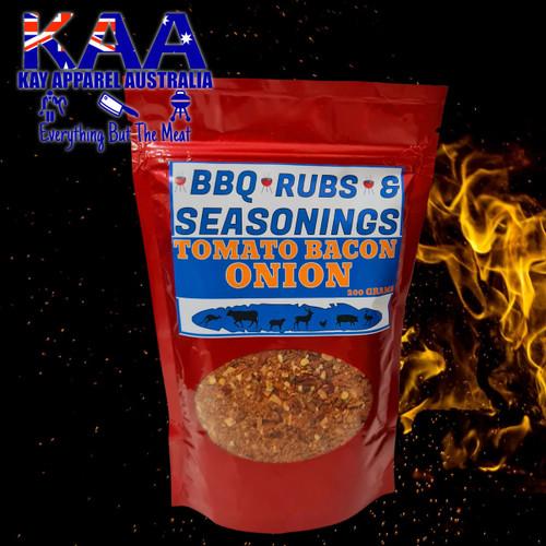 BBQ Rubs, Tomato Bacon & Onion Rub Sprinkle 200 Grams