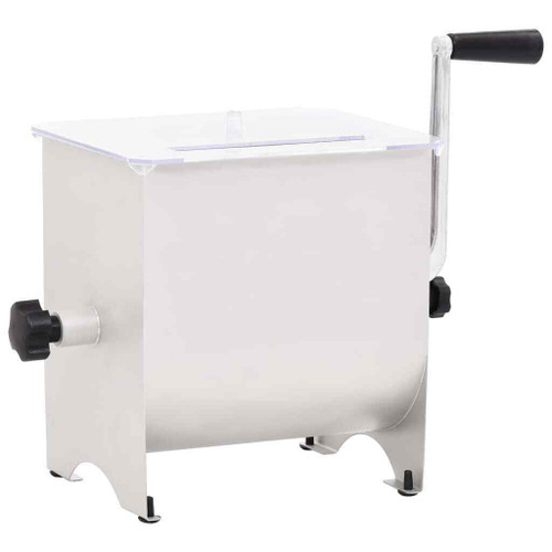 Manual Meat Mixer with Lid 20L Stainless Steel