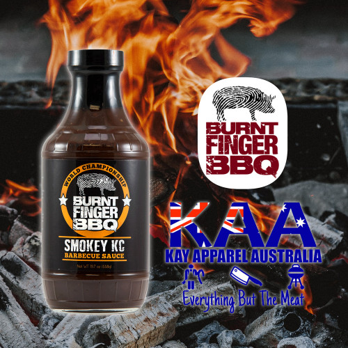 Burnt Finger BBQ Smokey KC Barbecue Sauce 558 Grams