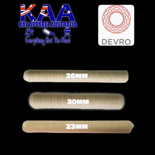 Devro 3 Pack Collagen Sausage Casings 1 Of Each, 23mm, 26mm, 30mm