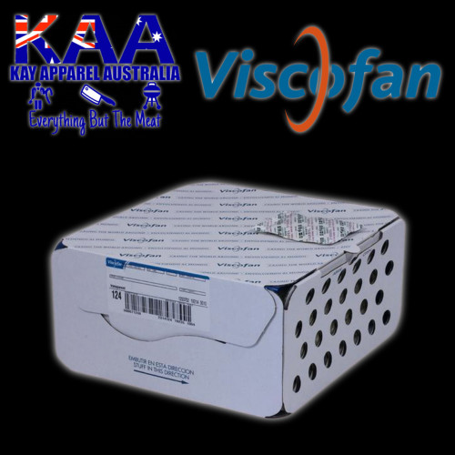 Viscofan Naturin Collagen Sausage Casings NDC MFR 23/37.5 Caliber Knot 1143M Caddy (100)